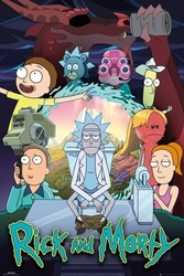 Rick and morty season 4 - plakat
