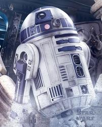 Star wars the last jedi r2-d2 droid - plakat