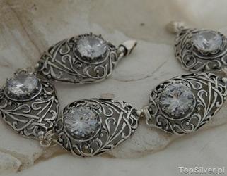 Arcona - srebrna bransoletka z kryształem swarovskiego