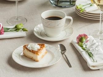 Serwis  zestaw kawowy dla 6 osób porcelana mariapaula nova ecru marble 12 elementów