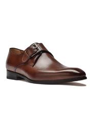 Eleganckie brązowe buty męskie typu monk othello 6,5