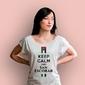 Keep calm and san escobar t-shirt damski biały xxl