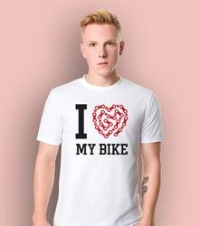 I love my bike ksz t-shirt męski biały l