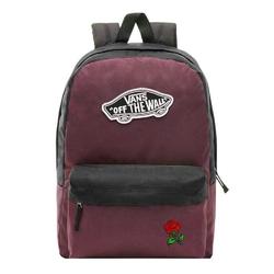 Plecak szkolny vans realm prune purple black - vn0a3ui6tqr - custom red rose