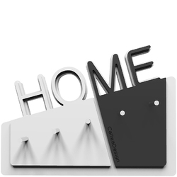 Wieszak na klucze Home CalleaDesign biały  czarny 18-001-5