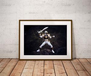 Power rangers white ver2 - plakat wymiar do wyboru: 59,4x42 cm