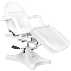 Fotel kosmetyczny hyd. a 234d z kołyską  biały