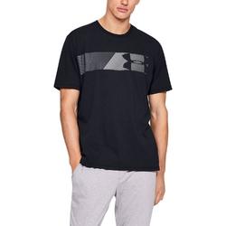 Koszulka męska under armour fast left chest 2.0 ss - czarny