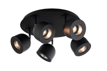 Kaspa :: lampa sufitowa  plafon reflektorowy pilar 5 czarny