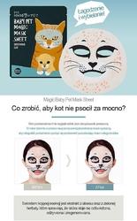 Holika holika baby pet magic mask sheet soothing cat, maska antybakteryjna, przeciwzapalna