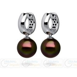 Fc kolczyki z perłą wiszące 3061221011 pm12 kolor ciemny brąz