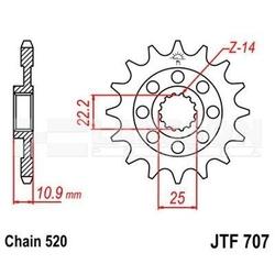 Zębatka przednia jt 50-32141-15, 15z, rozmiar 520 2201266 aprilia sxv 450