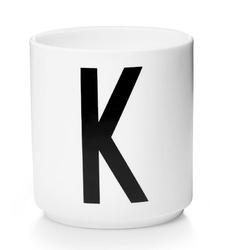 Kubek porcelanowy AJ litera K