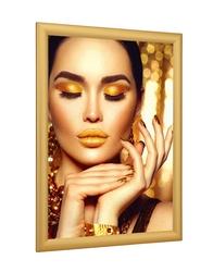 Rama zatrzaskowa złoty mat 25 mm 25 mm rama zatrzaskowa złota