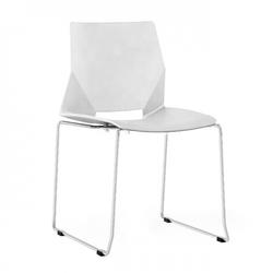 Nowoczesne krzesło do jadalni salonu biura białe