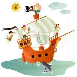 Naklejka bateau pirate