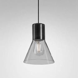 Aqform :: lampa wisząca modern glass flared sp czarna wys. 20,5 cm