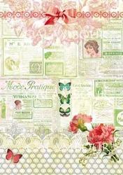 Papier ryżowy calambour 33x48 cm kwiaty tagi