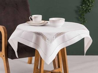 Obrus  serweta na stół altom design biały z ażurowym wykończeniem 80 x 80 cm