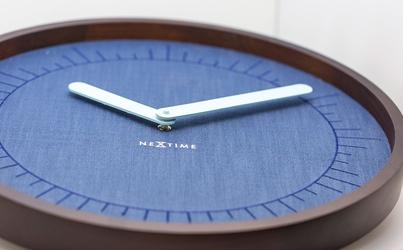 Zegar ścienny calmest index nextime niebieski 3201
