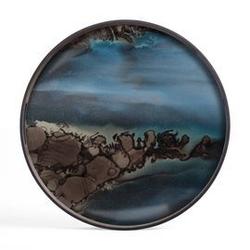 Ethnicraft :: taca dekoracyjna slate organic okrągła niebieska rozm. l