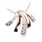 Staviori wisiorek. 7 diamentów, szlif achtkant, masa 0,035 ct., barwa h, czystość i1. białe, różowe złoto 0,585. wymiary 15x15 mm.