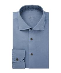 Męska niebieska koszula twill xxl
