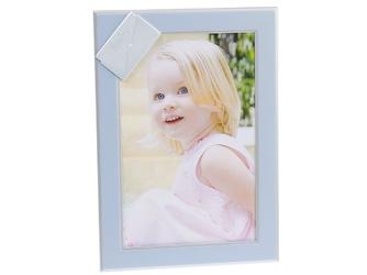 Ramka na zdjęcia blue baby pamiątka chrzest grawer
