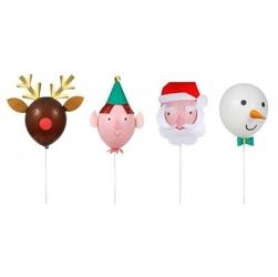 Meri meri - zestaw balonów boże narodzenie