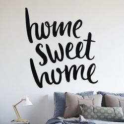 Home sweet home - naklejka na ścianę , kolor naklejki - biała, wymiary naklejki - 30cm x 30cm