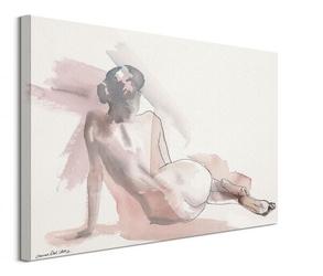 Rysunek kobiety - obraz na płótnie