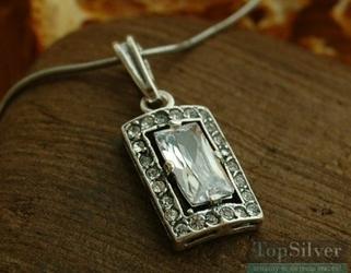 Sujata - srebrny wisiorek z cyrkoniami