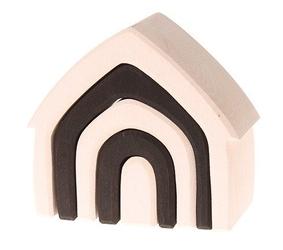 Drewniany domek, kolekcja naturalna 1+, monochromatyczny, grimms - monochromatyczny