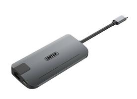 Unitek replikator usb-c hub+vga+hdmi+gigabit+power delivery y-dk09016