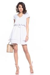Elegancka sukienka w szpic - biała
