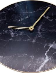 Zegar ścienny marble czarny nextime 40 cm 8189 zw