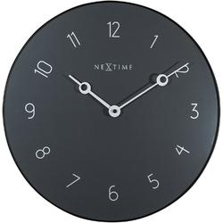 Zegar ścienny Carousel szary Nextime 40 cm 8193 GS