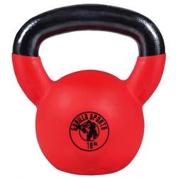 18 kg kettlebell gumowany hantel crossfit gorilla sports
