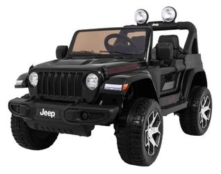 Duży dwumiejscowy jeep wrangler rubicon 4x4 czarny