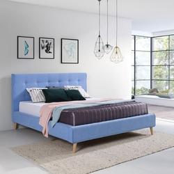 Eleganckie łóżko tapicerowane do sypialni maddalena z pikowanym oparciem