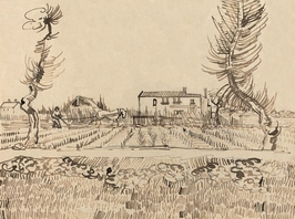 Ploughman in the fields near arles, vincent van gogh - plakat wymiar do wyboru: 42x29,7 cm