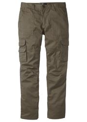 Spodnie quot;bojówkiquot; z powłoką z teflonu regular fit straight bonprix ciemnooliwkowy