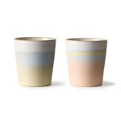 Hkliving zestaw 2 kubków ceramicznych 70s horizon ace6893