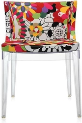 Krzesło Mademoiselle a la mode przezroczyste Missoni vevey czerwień