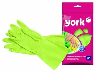 York, rękawice gumowe aloesowe, rozmiar M