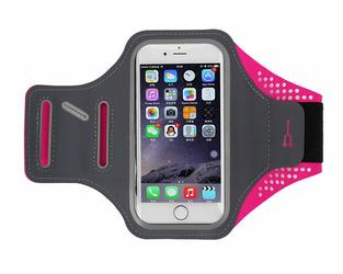 Etui na ramię sportowe do biegania wodoodporne 4.7 cala różowe - Różowy
