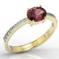 Pierścionek z żółtego złota z rubinem i diamentami bp-58z-r - żółte z rodowaniem  rubin