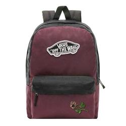 Plecak szkolny vans realm prune purple black - vn0a3ui6tqr - custom powder rose - powder rose