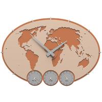 Zegar ścienny Greenwich CalleaDesign różowo-piaskowy 12-002-21