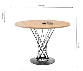 Stół toren okrągły 100x75 cm blat industrialny
